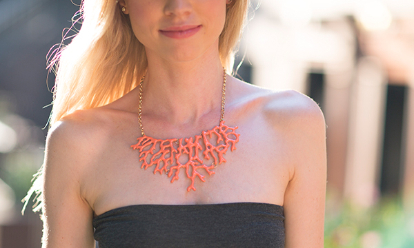 Feature Colorful Statement Necklace