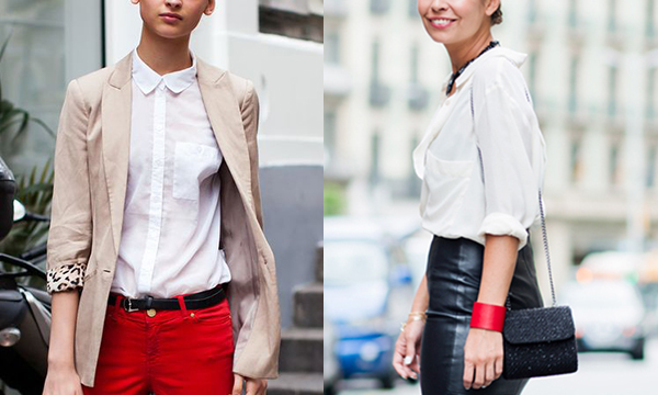 Five Looks for the Perfect White Blouse