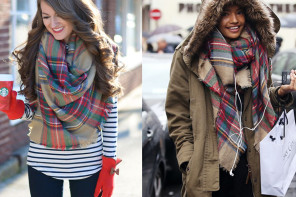 10 Layering Ideas With Plaid Scarves