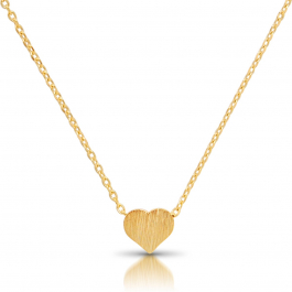 Tiny heart necklace delicate dainty pendant chain mozeypictures Images