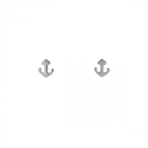 df211a454 Tiny Anchor Studs - 925 Sterling Silver Delicate Nautical Post Earrings