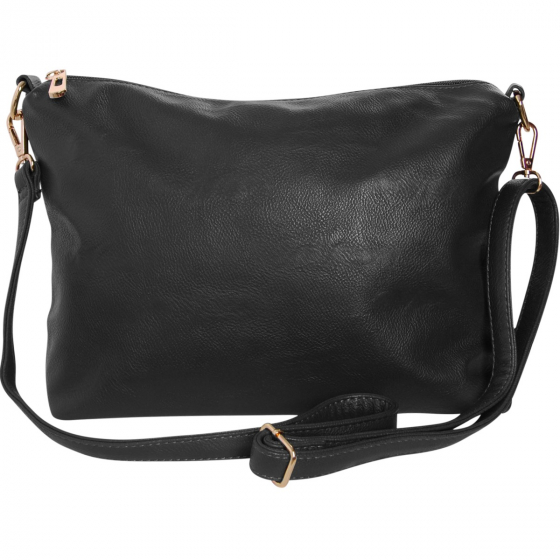 8d5e47513b Black Crossbody Bag - Vegan Leather Satchel Messenger Hobo Handbag Shoulder  Purse