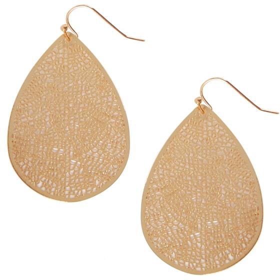 Leaf Dangle Earrings Statement Filigree Dangling Lightweight Boho Vintage Drops