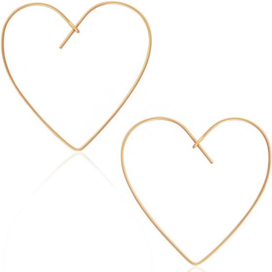 Heart Drop Hoops