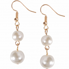 Pearl Dangles - Gold-Tone Double Dangle
