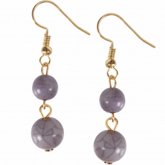 Coco Dangles - Marbled Grey Double Dangle