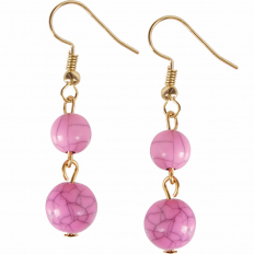 Coco Dangles - Marbled Pink Double Dangle