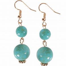 Coco Dangles - Turquoise Large Double Dangle