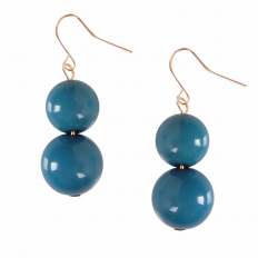 Coco Dangles - Teal Large Double Drop