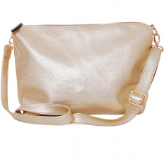 Cross Body Bag - Vegan Leather - Gold
