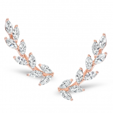 Crystal Leaf Crawlers - Rose Gold-Tone Petals