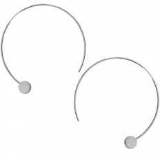 Disc Hoops - Silver-Tone