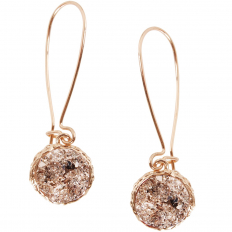 Druzy Threader Dangles - Gold-Tone