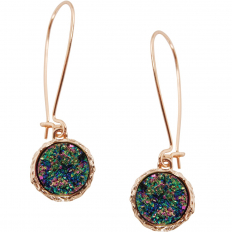 Druzy Threader Dangles - Iridescent