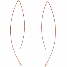 Curved Fish Hoops - 18K Rose Gold Plated