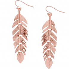 Floating Feathers - Rose Gold-Tone