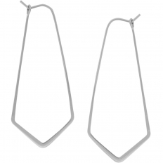 """Geometric Threader Hoops - 925 Silver Plated - 2"""""""