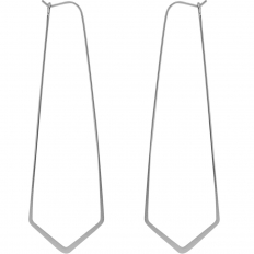 """Geometric Threader Hoops - 925 Silver Plated - 3"""""""