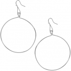 Hoop Dangle Earrings - 925 Silver Plated