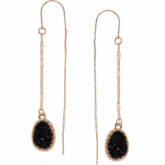Druzy Chain Bar Threaders