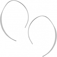 Upside Down Hoops - 925 Silver Plated