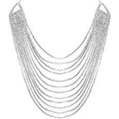 Darling Waterfall Necklace - Silver-Tone
