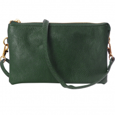 Large Wristlet with Included Cross Body Strap - Hunter