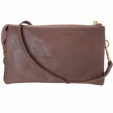 Large Wristlet with Included Cross Body Strap - Taupe
