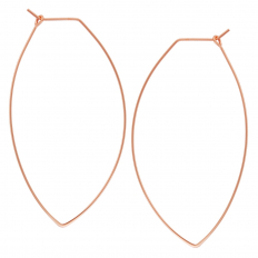 Marquise Threader Hoops - 18K Rose Gold Plated - 2.3""
