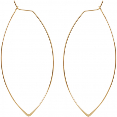 Marquise Threader Hoops - 18K Gold Plated - 3""