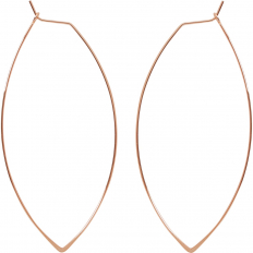 Marquise Threader Hoops - 18K Rose Gold Plated - 3""