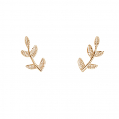 Tiny Branch Studs - Gold Flashed