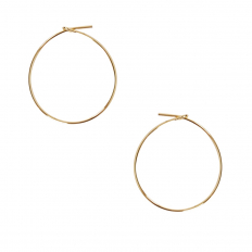 Round Hoop Earrings - 18K Gold Plated - 1 inch