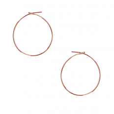 Round Hoop Earrings - 18K Rose Gold Plated - 1 inch