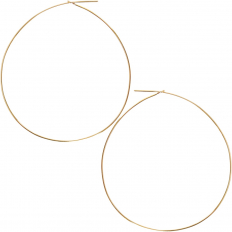 Round Hoop Earrings - 18K Gold Plated - 2.5 inch