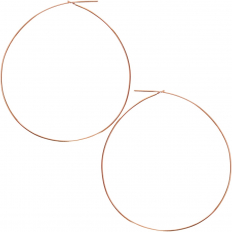 Round Hoop Earrings - 18K Rose Gold Plated - 2.5 inch