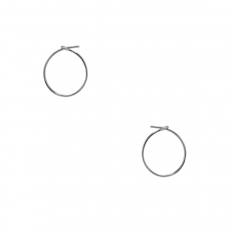 Round Hoop Earrings - 925 Silver Plated - 0.5 inch