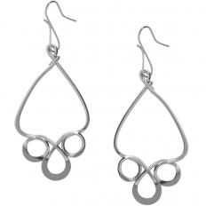 Scroll Dangle Earrings - 925 Silver Plated