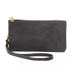 Small Wristlet - Vegan Leather - Charcoal