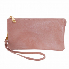 Small Wristlet - Vegan Leather - Dusty Rose