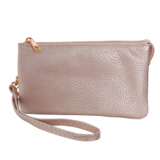 Small Wristlet - Vegan Leather - Champagne