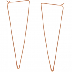 Spike Triangle Threader Hoops - 18K Rose Gold Plated