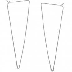 Spike Triangle Threader Hoops - 925 Silver Plated