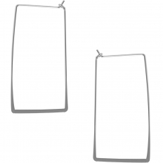 Rectangle Hoop Threaders - 925 Silver Plated