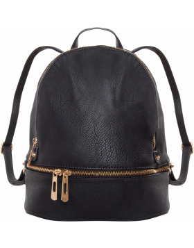 Multi-Zip Backpack - Vegan Leather