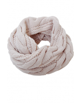 Cable Knit Circle Scarf