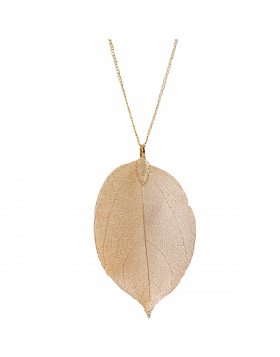 Filigree Leaf Long Necklace