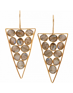 Geometric Gemstone Dangles
