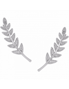 Tiny Leaf Crawlers - Silver-Tone