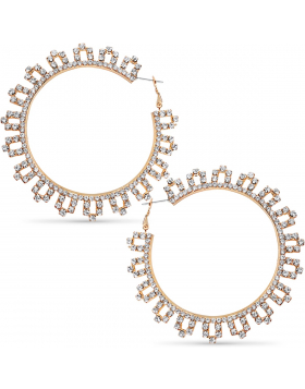 Pave Flower Hoops